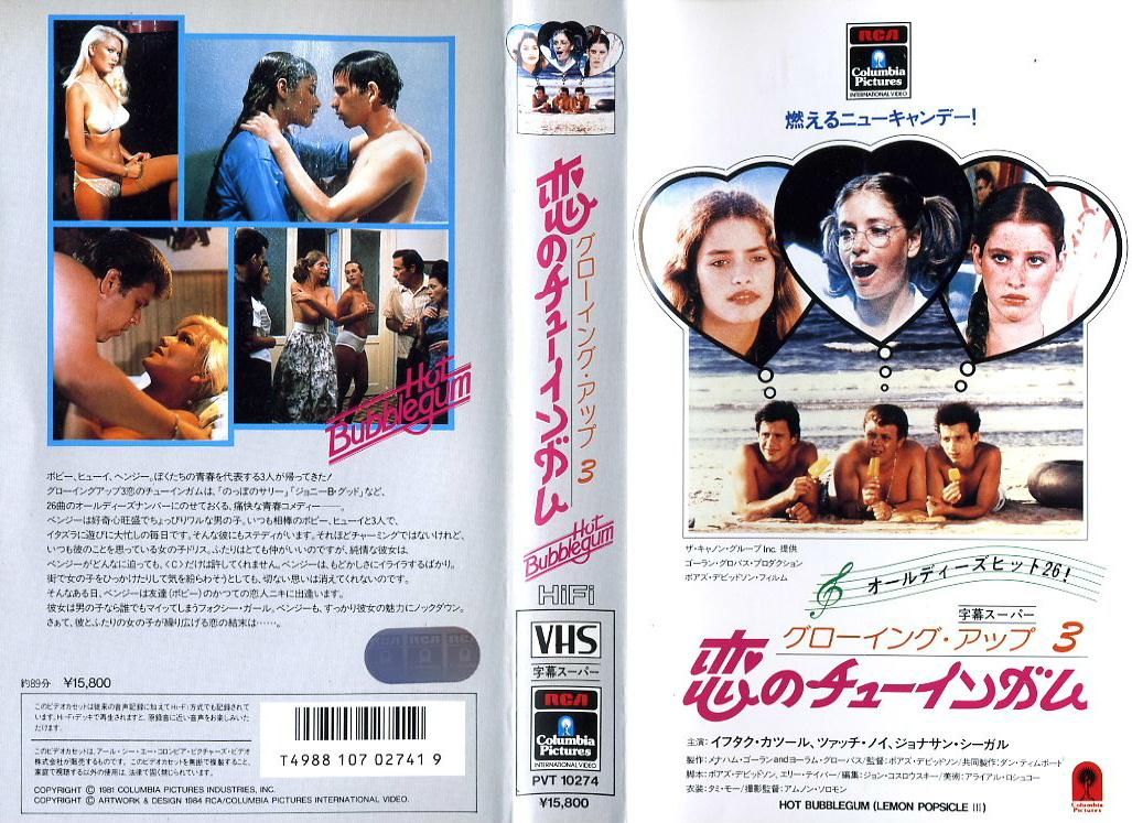 グローイング・アップ3 恋のチューインガム グローイングアップ3 VHSネットレンタル ビデオ博物館 廃盤ビデオ専門店 株式会社Kプラス
