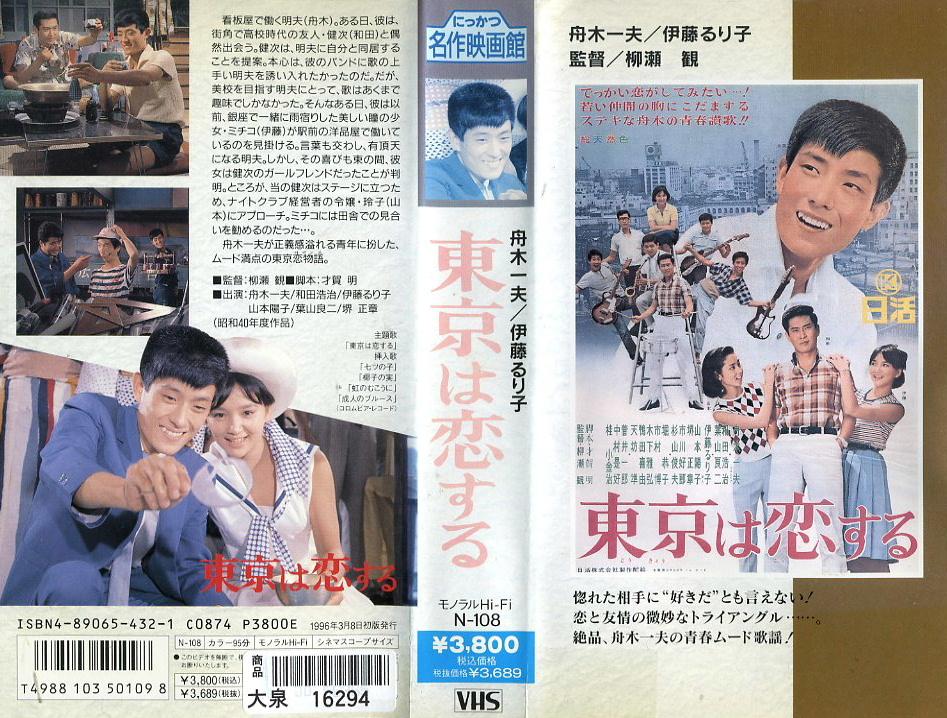 東京は恋する VHSネットレンタル ビデオ博物館 廃盤ビデオ専門店 株式会社Kプラス