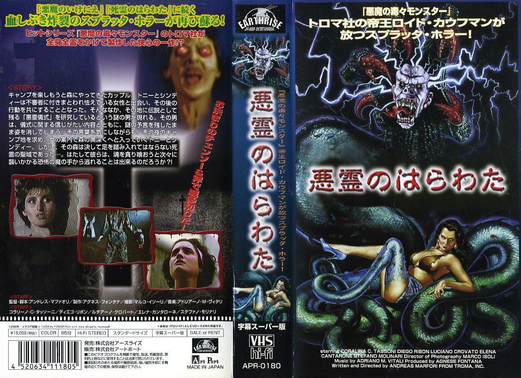 悪霊のはらわた 屍の棲む森 ゲロゾイド VHSネットレンタル ビデオ博物館 廃盤ビデオ専門店 株式会社Kプラス