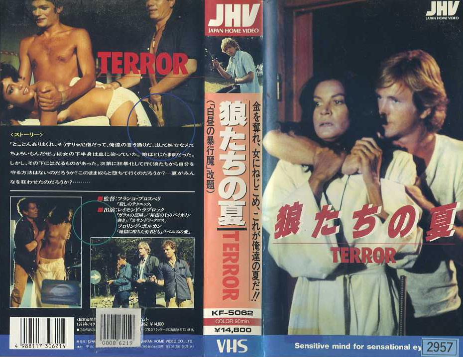 狼たちの夏 (白昼の暴行魔) VHSネットレンタル ビデオ博物館 廃盤ビデオ専門店 株式会社kプラス